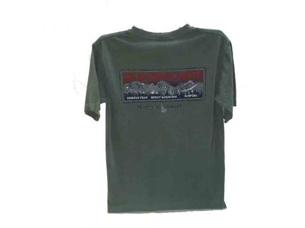 Pocatello mountains green t-shirt